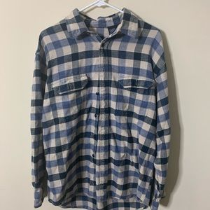 Mens Izod Blue Flannel Size Large